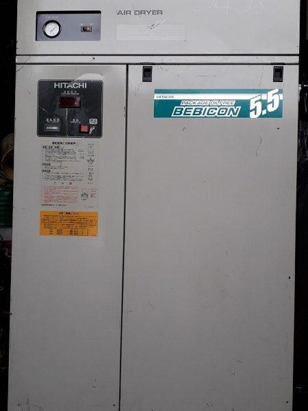 bán máy nén khí cũ không dầu Hitachi 5.5 kw có tách ẩm