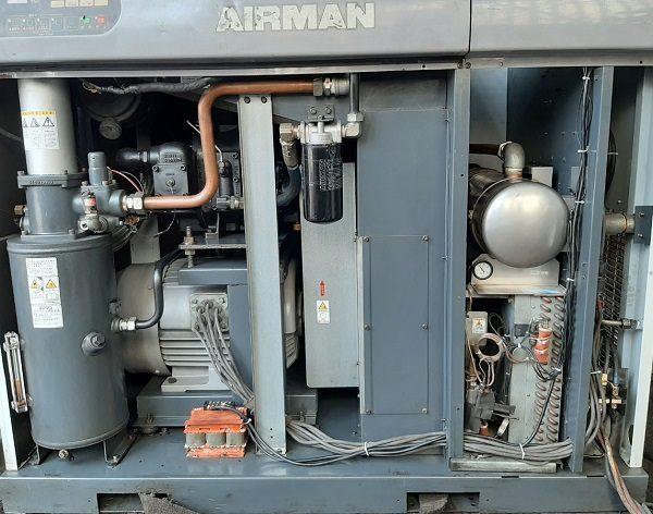 bán máy nén khí airman 37 kw cũ 50 Hp hàng Nhật bản