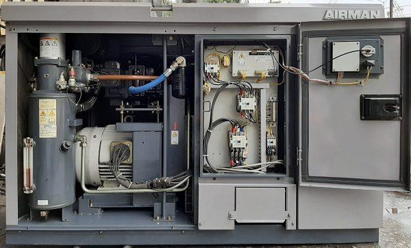 bán máy nén khí cũ Airman 22 kW có hệ thống sấy khí, hàng Nhật Bản